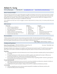 senior financial analyst resume samples resume format  hris