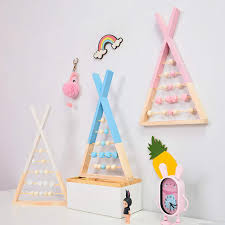 Online Shop <b>Nordic Style Wooden</b> Triangle Multifunctional ...