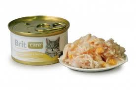 <b>Brit Care Cat консервы</b> для кошек, с куриной грудкой и сыром, 80 г ...