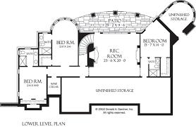 HILLSIDE WALKOUT   PLAN OF THE WEEK   HousePlansBlog DonGardner comHillside Walkout     The Hollowcrest basement floor plan