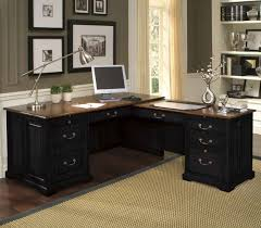 chic l shape of best home office desk made of wooden material with handler amazing office desk black 4