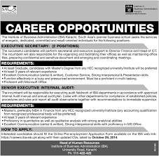 jobs in the institute of buisness administration karachi published the institute of buisness administration karachi