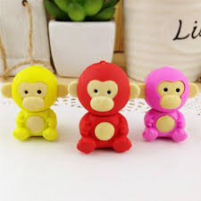 <b>1pcs</b>/<b>lot Cute</b> monkey eraser creative <b>kawaii</b> stationery office school ...