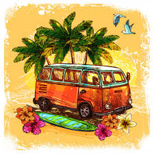 Free Vector | <b>Surf bus</b> sketch concept