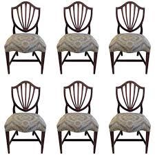hepplewhite shield dining chairs set: set of six hepplewhite shield back dining chairs