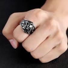 4.1$ #Skull titanium steel <b>ring</b>   <b>Rings</b>, <b>Jewelry</b>, <b>Rings</b> for <b>men</b>