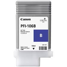 <b>Canon PFI</b>-<b>106B Blue</b> Ink Cartridge - <b>130ml</b> - 6629B001AA - for ...