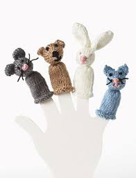Bear, Bunny, Kitty and Mouse Finger Puppet pattern by ... - Ravelry