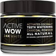 Active Wow Teeth Whitening <b>Charcoal</b> Powder <b>Natural</b>