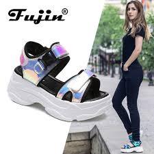 <b>Fujin Brand Women</b> Sandals 2019 New Fashion Ladies <b>Casual</b> ...