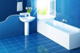 blue bathroom tile ideas:  blue and white tiles in the bathroom   small bathroom remodel before and after blue
