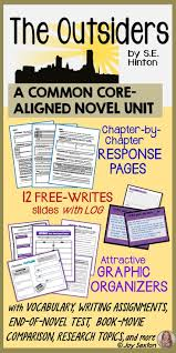 top ideas about the outsiders learning the outsiders unit novel study common core aligned
