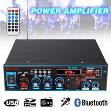 <b>HIFI 2CH 800W</b> Audio Power Amplifier FM SD Mic Bluetooth Stereo ...