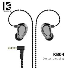 AK KBEAR <b>KB04</b> 1BA+1DD Hybrid Drivers In Ear <b>Earphone HIFI</b> DJ ...
