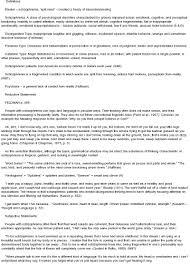 schizophrenia essay english literature essay topics schizophrenia essay plan