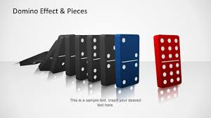 domino effect pieces template for powerpoint slidemodel domino effect pieces template for powerpoint