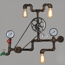 vintage industrial wrought iron wall light retro rustic bar