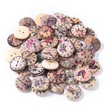 <b>50Pcs 2 Holes Wood</b> Buttons Craft Scrapbooking Sewing Clothing ...
