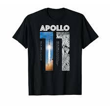 <b>Черный</b> Apollo 11 50Th Юбилейная <b>футболка Moon</b> Landing ...