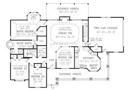 Country House Plan   Bedrooms and   Baths   Plan First Floor Plan