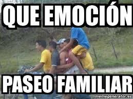 Meme Personalizado - QUE EMOCIÓN paseo familiar - 4156014 via Relatably.com