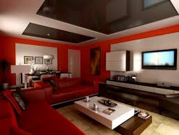 Modern Paint Colors For Living Rooms Modern Living Room Painting Ideas With Leather Red Leather Sofa