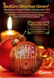 backcare backcare christmas carol concert backcare christmas concert a5 2015 flyer