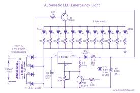 automatic led emergency light   electronic circuits and diagram    automatic led emergency circuit diagram