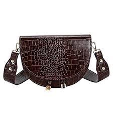 Buy Hanves 38# <b>Crocodile Pattern</b> Crossbody Bag For Women <b>Pu</b> ...