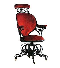 a fun survey of chairs can be found in this book below from where the 1849 chair comes along with a few other shots in this blog it breaks it all down art deco office chair