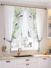 <b>Комплект штор Томдом</b> Филион, белый, зеленый, фиолетовый ...