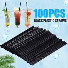 Mayitr <b>100Pcs</b>/<b>lot Plastic Mini</b> Cocktail Straws DIY Party Straw 3mm ...