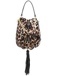 Miu Miu <b>Leopard Print Bucket</b> Bag | Farfetch.com