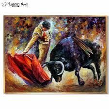 Customized <b>Oil Painting</b> Reproduction Bullfight Canvas Pictures <b>100</b> ...