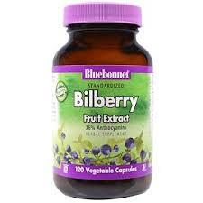 Bluebonnet Nutrition, <b>Standardized Bilberry Fruit Extract</b>, 120 ...