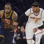Report: Cavaliers, Thunder Among Carmelo Anthony's Preferred Trade Destinations