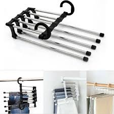 Pants rack shelves <b>5</b> in <b>1</b> Stainless Steel <b>Multifunctional</b> Wardrobe ...