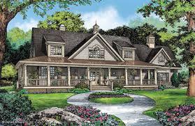 Porch   Wraparound House PlansHouse Plan The Carisbrooke