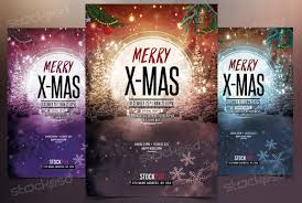 merry x mas 2017 psd flyer template stockpsd net holidays
