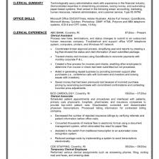 clerical resume example on positioning for clerical experience    clerical resume example on positioning for clerical experience resume clerical car pictures