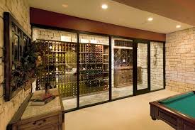awesome wine cellar with glass door mediterranean wine cellar by vintage home design inspiration awesome wine cellar