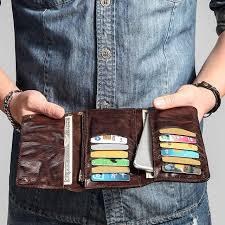 AETOO <b>Retro</b> wallet men long section young tide ultra-thin <b>soft</b> Doka ...