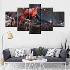 <b>5 Pieces HD Print</b> Painting Animal Spider Man Modular For Modern ...
