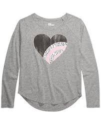 Epic Threads Big <b>Girls</b> Leopard <b>Heart T</b>-<b>Shirt</b>, Created For Macy's ...