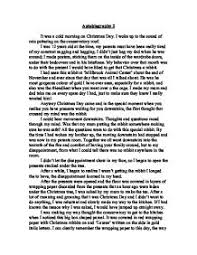 christmas day essay  www gxart orgoriginal writing memories of christmas gcse religious studies autobiography it was a cold morning on christmas