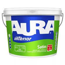 <b>Краска в/д для обоев</b> под окраску AURA SATIN основа TR 2.7 л ...