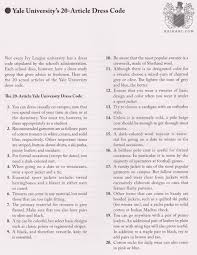 yale university s article ivy league dress code from  yale university s 20 article dress code from 1965 at dot com