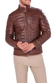 <b>Кожаная куртка JIMMY SANDERS</b> арт 19W_CTM22013_BROWN ...