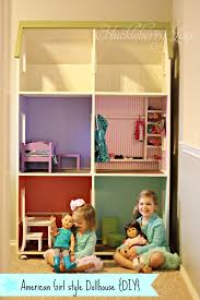 Huckleberry Love  American Girl style Dollhouse  DIY You see  we couldn    t just build a wardrobe and bed for Ella    s new American Girl doll  we just had to go all the way and build this giant dollhouse