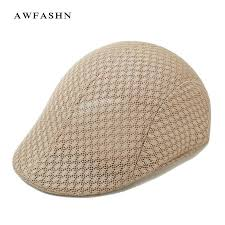 <b>Summer Men Breathable</b> Mesh Beret Newsboy Ivy Hiking Cabbie ...
